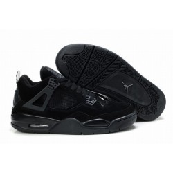 Amazing Jordan IV 4 Black Anti Fur