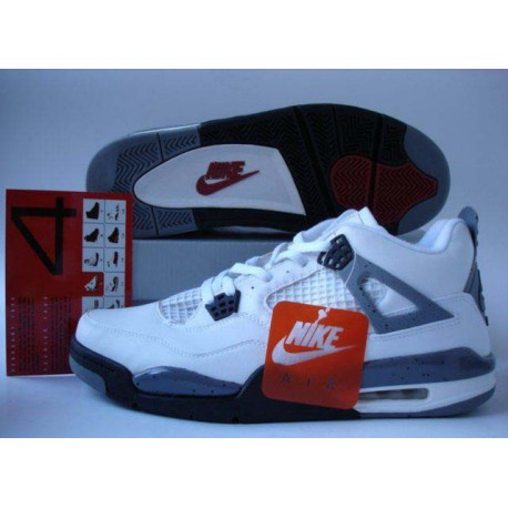 065bb909ddfa New Sale Top Quality Air Jordan IV 4 White Black-Cement grey