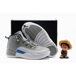 Cool Jordan XII 12 Wolf Grey Kids