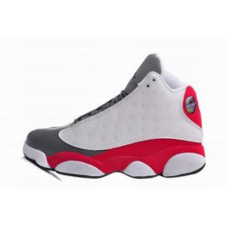 Popular jordan 13 white gray red kids