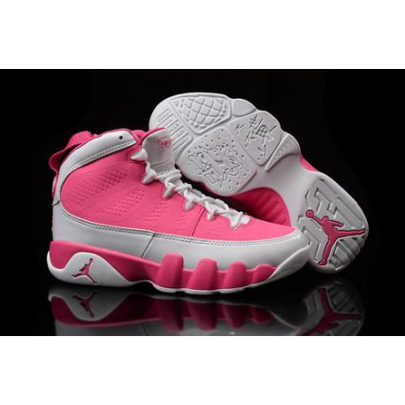 uk availability 65dea f9df5 New Sale Fashionable Air Jordan IX 9 Pink White Women