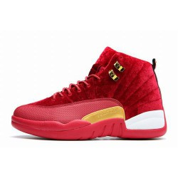 Best Sellers Air Jordan XII 12 Red Suede Women