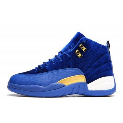 Comfortable Air Jordan XII 12 Blue Suede Women